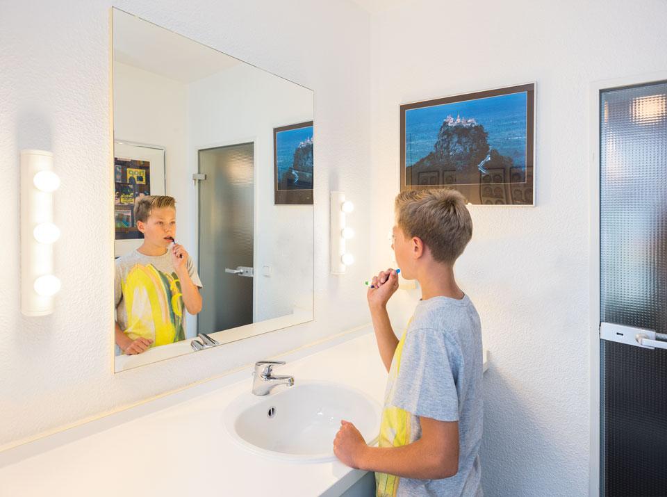 Mundhygiene-Ecke in der Praxis